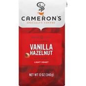 Camerons Coffee, Ground, Light Roast, Vanilla Hazelnut