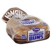 Franz Hamburger Buns, 100% Whole Wheat