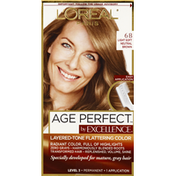 Excellence Haircolor, Permanent, Light Soft Neutral Brown 6B