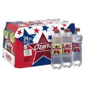 Ozarka Sparkling Water, Lime, White Peach Ginger, and Triple Berry