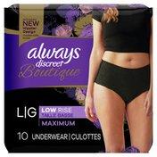 Always Discreet Boutique Low-Rise Postpartum Incontinence Underwear