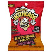 Warheads Chewy Candy, Extreme Heat, Worms