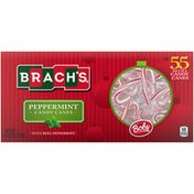Brach's Candy Canes, Peppermint, with Real Peppermint, Mini
