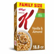 Kellogg's Special K Breakfast Cereal, 11 Vitamins and Minerals, Made with Real Almonds, Vanilla and Almond