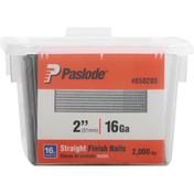 Paslode Finish Nails, Straight, Galvanized, 2 Inch