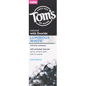 Tom's of Maine Toothpaste with Activated Charcoal, Anticavity, Wintergreen