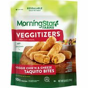 Morning Star Farms Veggie Bites, Vegan, Plant-Based Protein, Chik'n and Cheeze Taquito