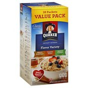 Quaker Oatmeal, Instant, Flavor Variety, Value Pack