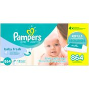 Pampers Baby Fresh Refreshing Scent Baby Wipes