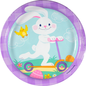 Party Creations Plates, Funny Bunny, 6-7/8 Inch