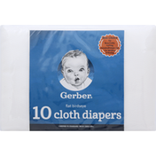 Gerber Cloth Diapers, Flat Birdseye