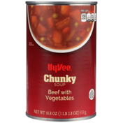 Hy-Vee Beef With Vegetables Chunky Soup