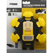 Prima Power Hub, with USB Charging Port, Outdoor, 3.4 A
