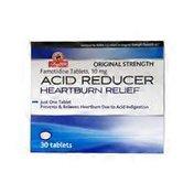 ShopRite Acid Reducer Heartburn Relief Famotidine Tablets, 10 Mg