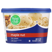 Food Club Maple Nut Maple Flavored Ice Cream With Walnuts