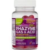 Phazyme Gas & Acid 250mg Chews Maximum Strength Cherry Flavor