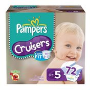 Pampers Cruisers Diapers Size 5 Super Pack 72 Count