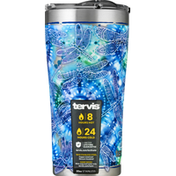 Tervis Tumbler with Lid, Stainless Steel, Tie Dye Dragonfly, 20 Ounce