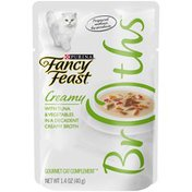 Fancy Feast Broths Mackerel & Vegetables in a Decadent Creamy Broth Wet Cat Food