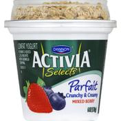 Dannon Yogurt, Lowfat, Parfait, Mixed Berry