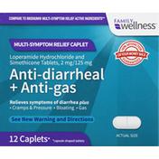 Family Wellness Anti-Diarrheal + Anti-Gas, Caplets