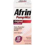 Afrin Maximum Strength Original Pump Mist Nasal Decongestant