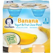 Gerber Banana Yogurt & Fruit Juice Blend Fruit & Yogurt