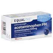 Equaline Acetaminophen PM, Extra Strength, Geltabs