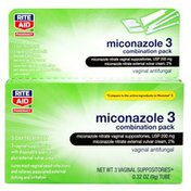 Rite Aid Miconazole 3 Vaginal Antifungal Combination Pack