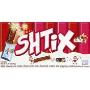 Elite Shtix Milk Chocolate Sticks Filled with Milk Flavored Cream and Popping Candies
