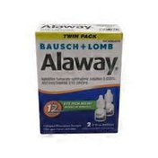 Alaway Allergy Eye Itch Relief, Original Prescription Strength, Twin Pack