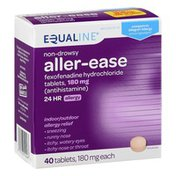 Equaline Aller-Ease, Non-Drowsy, 180 mg, Tablets