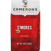 Camerons Coffee, Ground, Light Roast, Smores