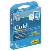 Lil Drug Store Cold, Severe Congestion, Tablets, On the Go Packs
