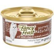 Fancy Feast Gourmet Naturals Beef Recipe In Gravy Natural Wet Cat Food