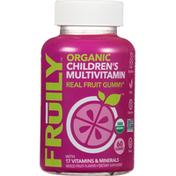 Fruily Multivitamin, Organic, Children's, Mixed Fruit Flavor, Gummies