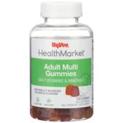 Hy-Vee Healthmarket, Adult Multi Daily Vitamins & Minerals Multivitamin & Multimineral Supplement Vegetarian Gummies, Assorted