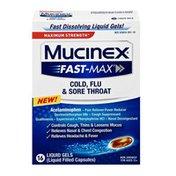 Mucinex® Strength Mucinex Fast-Max Cold, Flu, & Sore Throat Liquid Gels