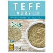 Pereg Natural Foods Teff Porridge, Ivory, Whole Grain, Non-GMO, Vegan, Kosher