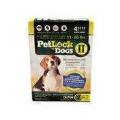 Petlock II Dogs 11-20 lbs. Flea & Tick Topical  Dogs Flea & Tick Topical Treatment