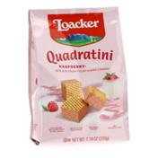 Loacker Quadratini Raspberry-Yogurt, Bite-size Wafer Cookies