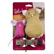 Petlinks Cat & Mouse Refillable Cat Toy Knit Nipper