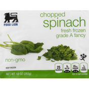 Food Lion Spinach, Fresh Frozen, Chopped, Bag