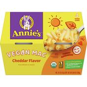 Annie's Organic Vegan Cheddar Macaroni & Cheese, Microwavable, 4 Cups