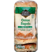 First Street Bagels, Onion, Pre-Sliced