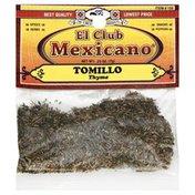 El Club Mexicano Thyme, Card