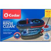 O Cedar Spin Mop System, Microfiber, Rinse Clean