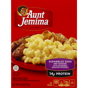Pearl Milling Company Scrambled Eggs and Sausage, with Seasoned Roasted Potatoes