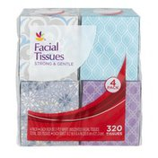 Ahold 2-Ply Facial Tissues Strong & Gentle - 4 PK