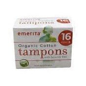 Emerita Plus Size Cotton Applicator Tampons